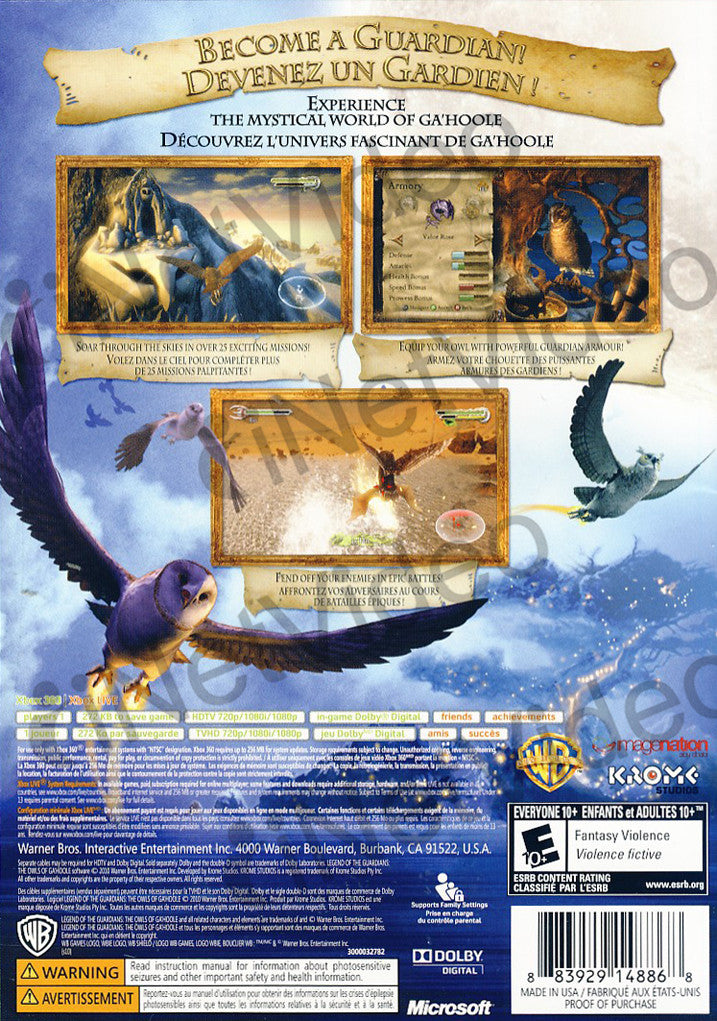 owls of gahoole game