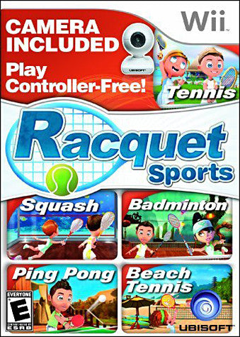 Racquet Sports with Camera (NINTENDO WII) NINTENDO WII Game