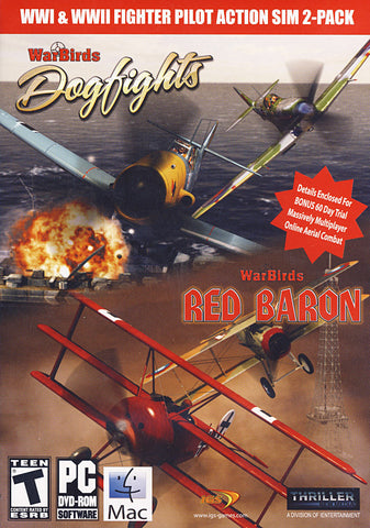 Warbirds WWI & WWII Fighter Pilot 2-Pack (Dogfights & Red Baron) (PC) PC Game