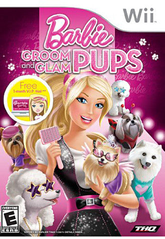 Barbie - Groom and Glam Pups (NINTENDO WII) NINTENDO WII Game