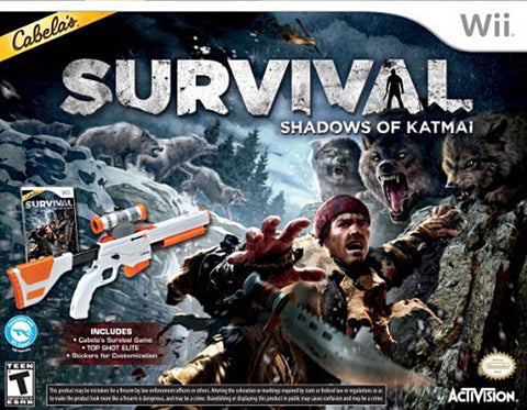 Cabelas Survival - Shadows of Katmai With Gun (Bundle) (Bilingual Cover) (NINTENDO WII) NINTENDO WII Game