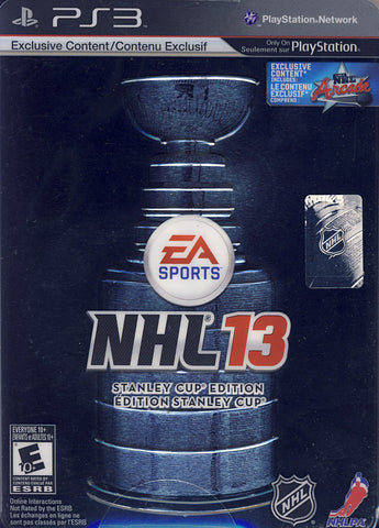 NHL 13 - Stanley Cup Edition (Steelcase) (Bilingual Cover) (PLAYSTATION3) PLAYSTATION3 Game