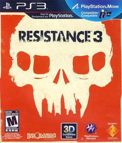 Resistance 3 (Playstation Move) (Bilingual Cover) (PLAYSTATION3) PLAYSTATION3 Game