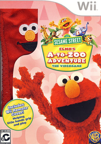 Sesame Street - Elmo's A-to-Zoo Adventure (Remote Cover) (NINTENDO WII) NINTENDO WII Game