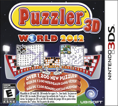 Puzzler World 2012 3D (Trilingual Cover) (3DS) 3DS Game