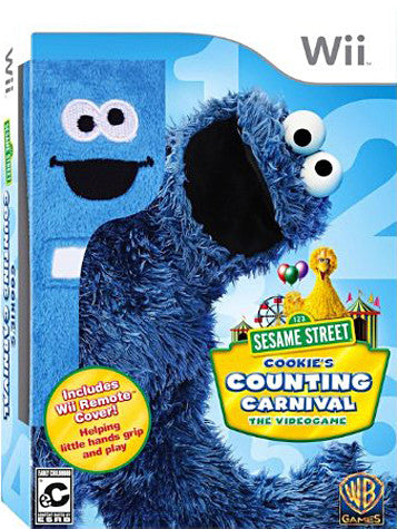 Sesame Street - Cookie's Counting Carnival (Remote Cover) (NINTENDO WII) NINTENDO WII Game