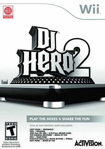 DJ Hero 2 (Game Only) (NINTENDO WII) NINTENDO WII Game