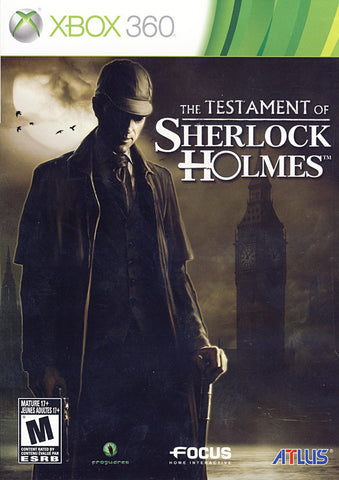 The Testament of Sherlock Holmes (Bilingual Cover) (XBOX360) XBOX360 Game