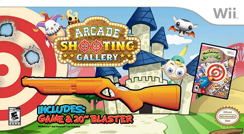 Arcade Shooting Gallery with Blaster (Bundle) (NINTENDO WII) NINTENDO WII Game