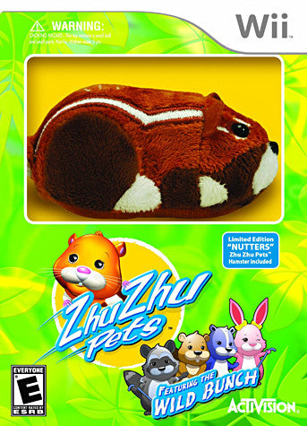 Zhu Zhu Pets - Wild Bunch with Zhu Zhu Hamster (bundle) (NINTENDO WII) NINTENDO WII Game