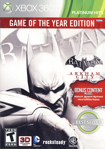 Batman - Arkham City (Game Of The Year) (XBOX360) XBOX360 Game