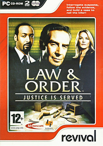 Law And Order - Justice is Served (European) (PC) PC Game