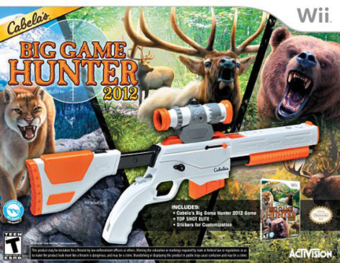 Cabela's Big Game Hunter 2012 with Top Shot Elite (Bundle) (NINTENDO WII) NINTENDO WII Game