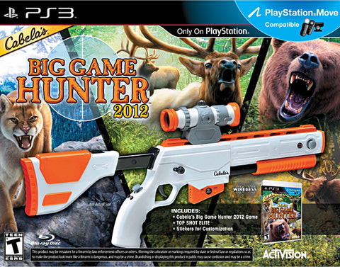 Cabela s Big Game Hunter 2012 with Top Shot Elite (Bundle) (Playstation Move) (PLAYSTATION3) PLAYSTATION3 Game