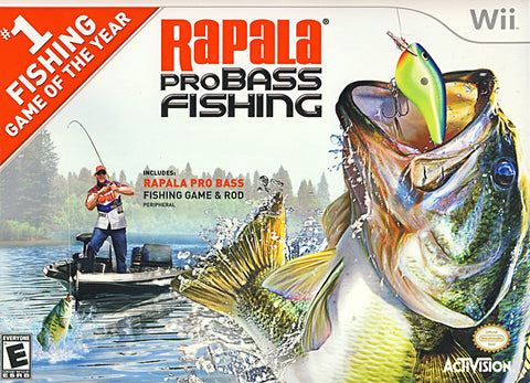 Rapala Pro Bass Fishing with Rod Peripheral (Bundle) (NINTENDO WII) NINTENDO WII Game
