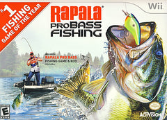 Rapala Pro Bass Fishing with Rod Peripheral (Bundle) (NINTENDO WII)