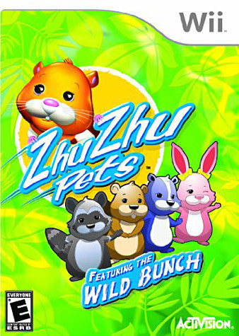 Zhu Zhu Pets - Wild Bunch with Zhu Zhu Hamster (Game Only) (NINTENDO WII) NINTENDO WII Game