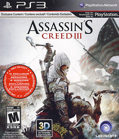 Assassin's Creed (3) III (PLAYSTATION3) PLAYSTATION3 Game