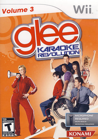 Karaoke Revolution Glee Volume 3 (Game Only) (NINTENDO WII) NINTENDO WII Game