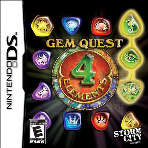 Gem Quest - 4 Elements (DS) DS Game