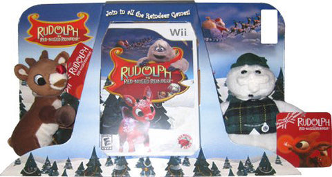 Rudolph the Red-Nosed Reindeer Plush (Bundle) (NINTENDO WII) NINTENDO WII Game