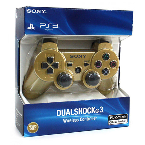 PlayStation 3 Dualshock 3 Wireless Controller - Metallic Gold (English) (Accessory) (PLAYSTATION3) PLAYSTATION3 Game