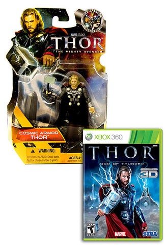 Thor - God Of Thunder with (Thor: Cosmic Armor Figure) (XBOX360) XBOX360 Game