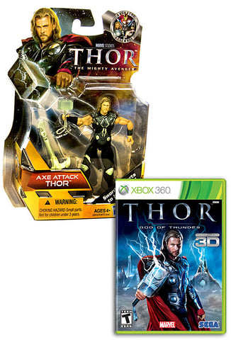 Thor - God Of Thunder with (Thor: Axe Attack Figure) (XBOX360) XBOX360 Game