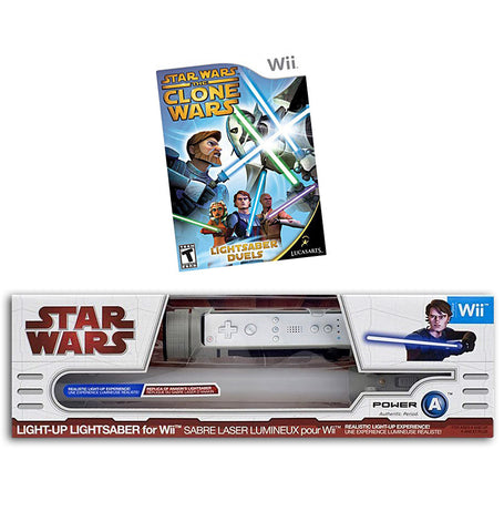 Star Wars The Clone Wars - Lightsaber Duels + Light-Up Lightsaber - Anakin (NINTENDO WII) NINTENDO WII Game