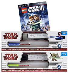 Lego Star Wars - The Complete Saga + 2 Official Lightsabers (Yoda and Anakin) (NINTENDO WII)