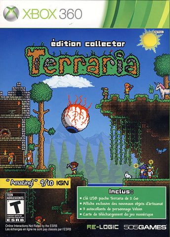 Terraria Collector Edition (French package, Game playable in English or French) (XBOX360) XBOX360 Game