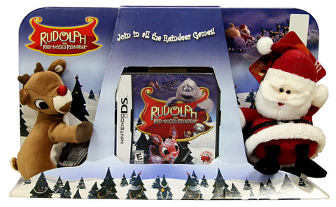 Rudolph and Santa Stuffed - The Red-Nosed Reindeer Plush (Bundle) (DS) DS Game