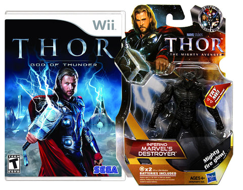 Thor - God Of Thunder with (Inferno Marvels Destroyer Figure) (NINTENDO WII) NINTENDO WII Game