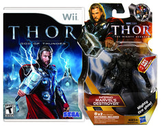 Thor - God Of Thunder with (Inferno Marvels Destroyer Figure) (NINTENDO WII)