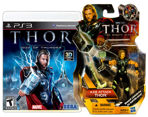 Thor - God Of Thunder with (Thor: Axe Attack Figure) (PLAYSTATION3) PLAYSTATION3 Game