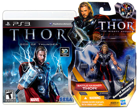 Thor - God Of Thunder with (Thor: Battle Hammer Figure) (PLAYSTATION3) PLAYSTATION3 Game