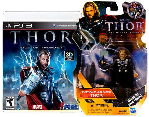 Thor - God Of Thunder with (Thor: Cosmic Armor Figure) (PLAYSTATION3) PLAYSTATION3 Game