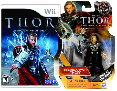 Thor - God Of Thunder with (Thor: Cosmic Armor Figure) (NINTENDO WII) NINTENDO WII Game