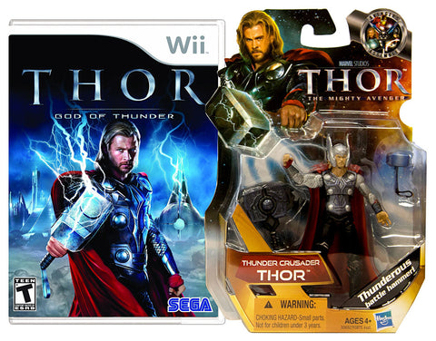 Thor - God Of Thunder with (Thor: Thunder Crusader Figure) (NINTENDO WII) NINTENDO WII Game