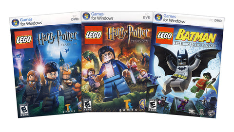 Lego Harry Potter Years 1-4 and Years 5-7 + Lego Batman (3-Pack) (PC) PC Game