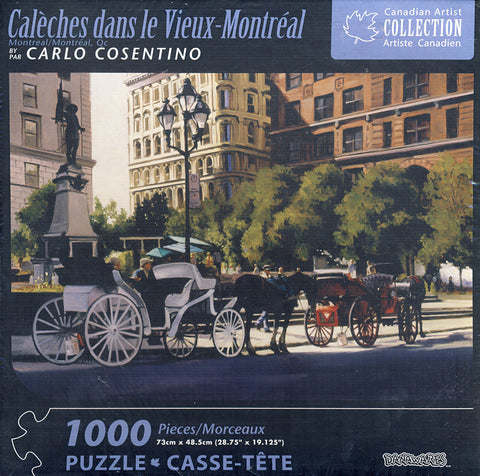 Canadian Artist Collection - Caleches Dans Le Vieux-Montreal Puzzle (1000 Pieces) (TOYS) TOYS Game