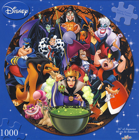 Disney - Circular Vilains Puzzle (1000 Pieces) (TOYS) TOYS Game
