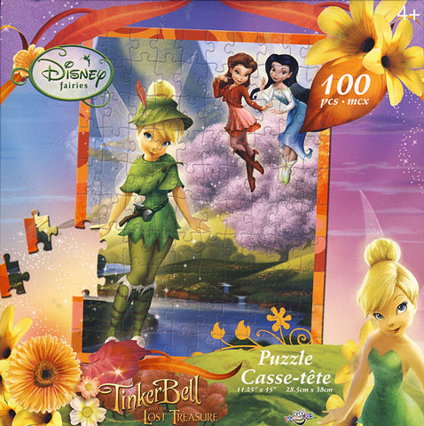 Disney Fairies - Tinkerbell and Friends: in a Yellow Flower Meadow Puzzle (100 Pieces) (TOYS) TOYS Game