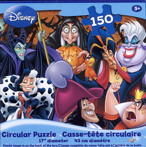 Disney - Circular Vilains Puzzle (150 Pieces) (TOYS) TOYS Game