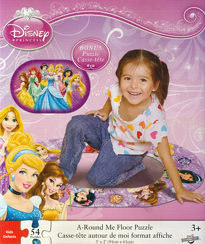 Disney Princess - A Round Me Floor Puzzle (54 Pieces) (TOYS) TOYS Game
