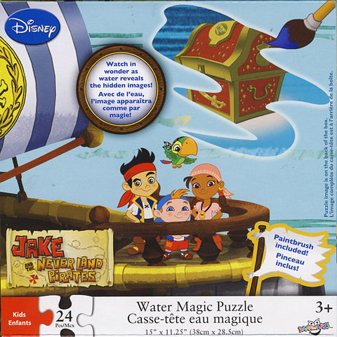 Disney: Jake and the Never Land - Pirates Water Magic Puzzle (24 Pieces) (TOYS) TOYS Game