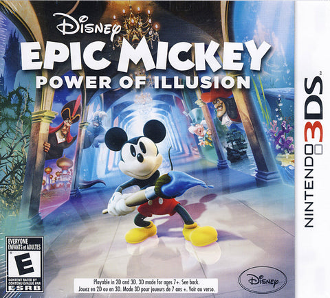 Disney Epic Mickey - Power of Illusion (Bilingual Cover) (3DS) 3DS Game