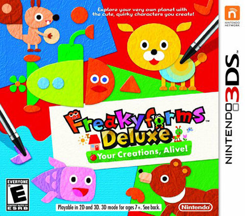 Freakyforms Deluxe - Your Creations, Alive! (Bilingual Cover) (3DS) 3DS Game
