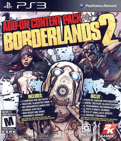 Borderlands 2 - Add-on Content Pack (PLAYSTATION3) PLAYSTATION3 Game