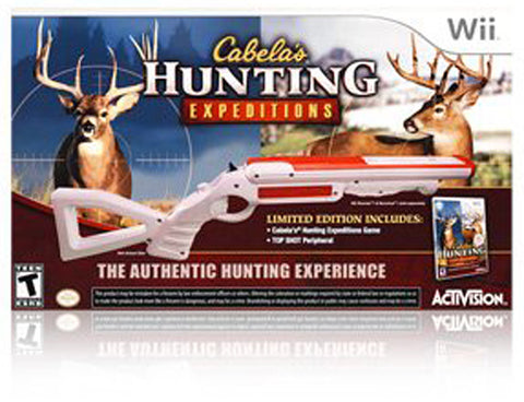 Cabela s Hunting Expeditions with Gun (Bundle) (Bilingual Cover) (NINTENDO WII) NINTENDO WII Game
